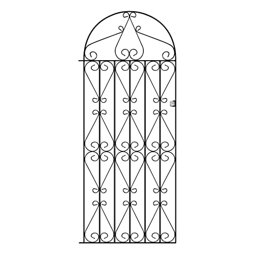 Regent Tall Metal Scroll Garden Gates 838mm GAP X 1791mm High Wrought Iron  Swing Gate RB41