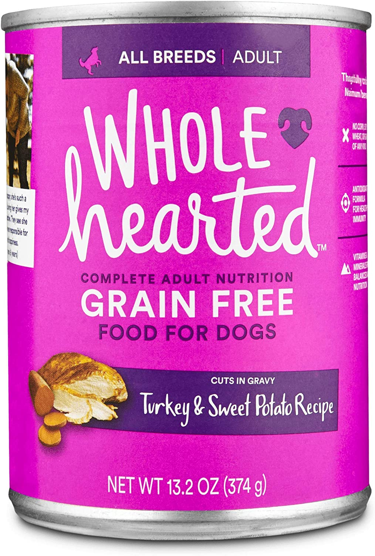 Petco Brand - WholeHearted Grain Free Adult Turkey and Sweet Potato Recipe Wet Dog Food, 13.2 oz., Case of 12, 12 X 13.2 OZ