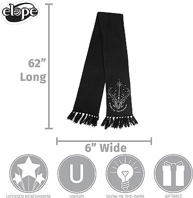 elope Licensed Harry Potter Patronus Glow Knit Scarf