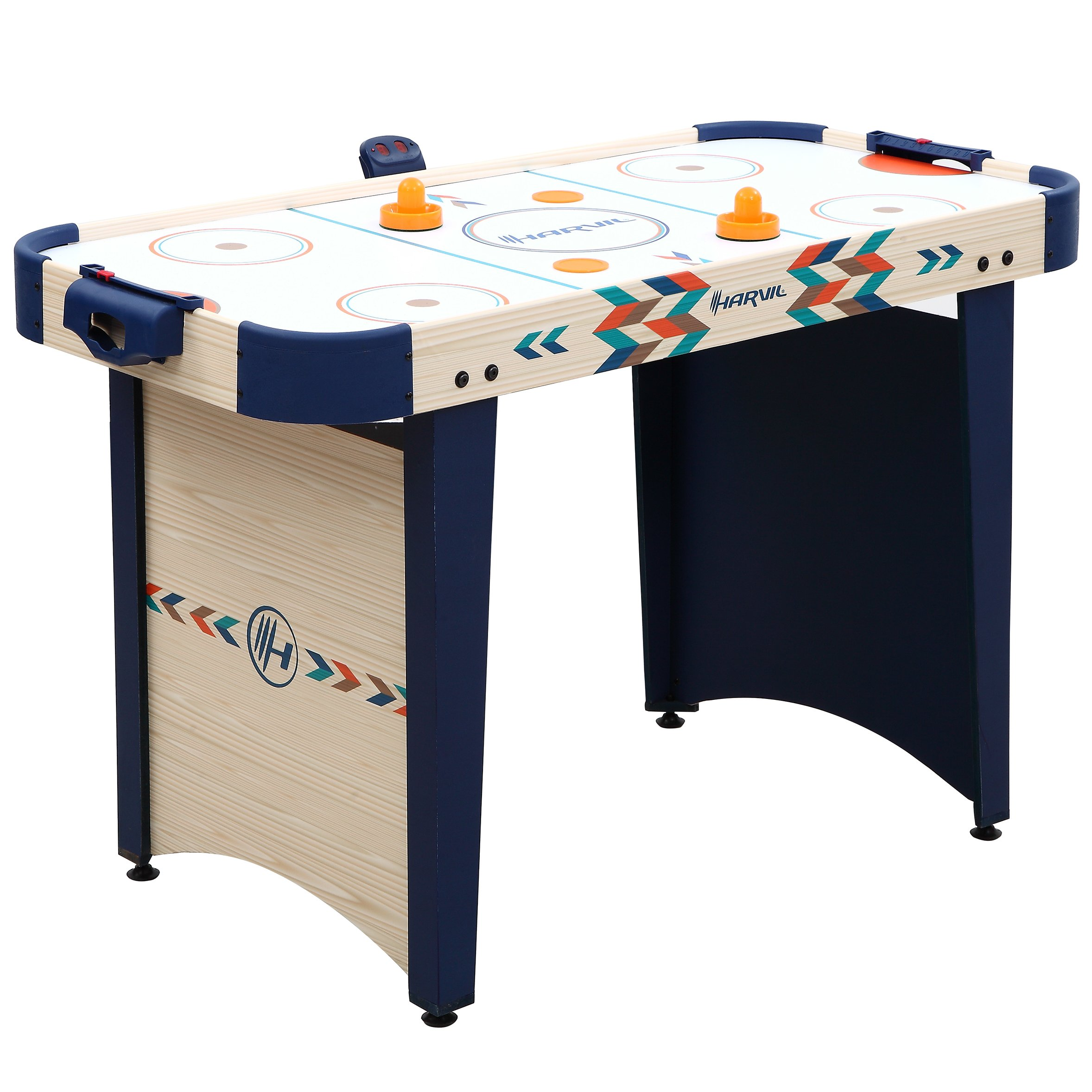 Harvil 4 Foot Air Hockey Game Table for Kids and Adults with Electronic Scorer, Free Pushers and Pucks by Harvil