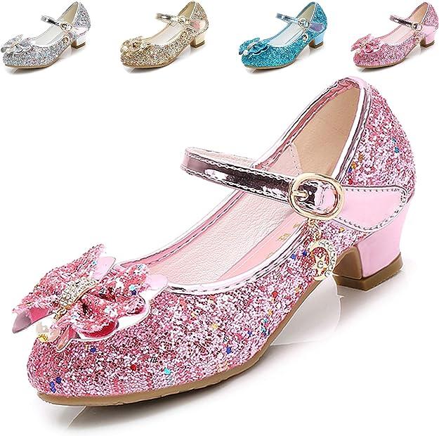 Amazon.com: Cadidi Dinos - Zapatos de vestir para niña con tacón de Princesa Mary Jane, zapatos con flores (bebé / niña pequeña / niña grande), Rosa: Shoes