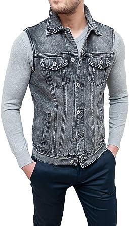 Giubbino in jeans smanicato per uomo   Grandi Sconti   Jeans