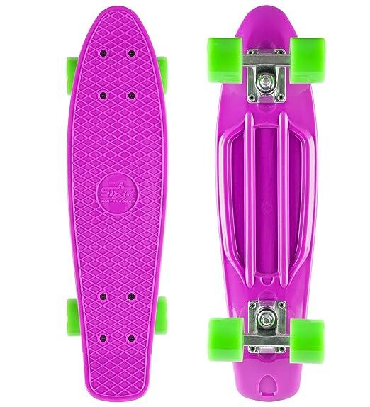 STAR-SKATEBOARDS® Vintage Cruiser Board ★ 22s Diamond Class Edition ★ Candy Purple & Gecko Green