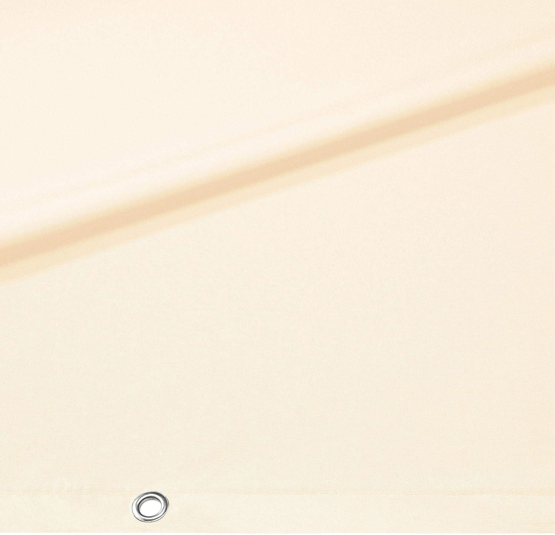 CelinaSun separ/é 0,75 x 4 m Bianco PES Poliestere impregnato Anti-Vento per Giardino Balcone con Occhielli Fascette