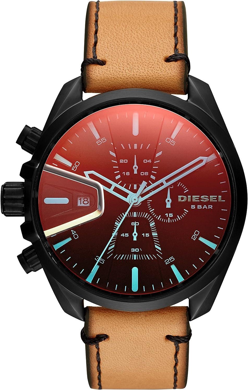 Diesel Reloj Cronógrafo para Hombre de Cuarzo con Correa en Cuero DZ4471