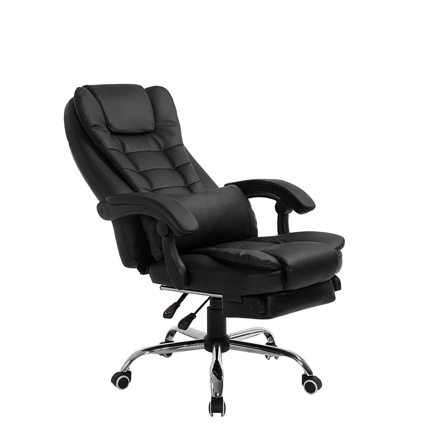 Cherry Tree Luxury Extra Padded High Back Reclining Faux Leather