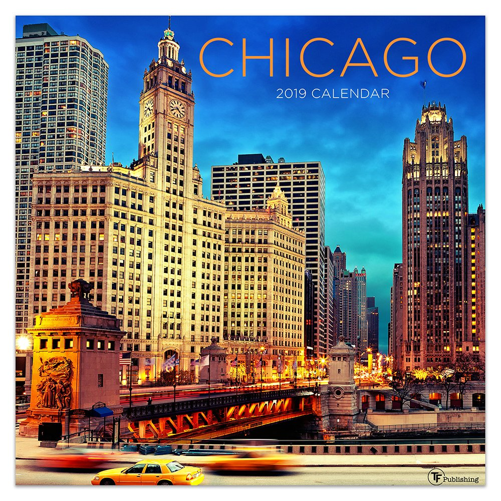 """Download Time Factory Chicago 12"""" x 12"""" January -December 2019 Wall Calendar (19-1165) pdf epub"""