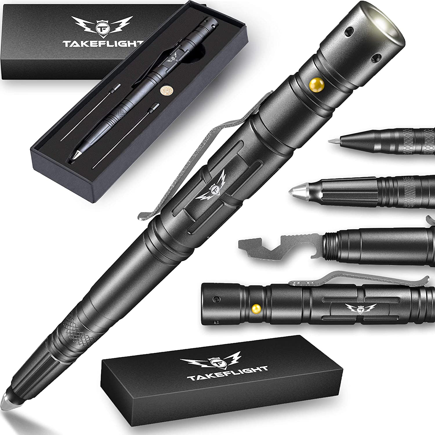 New Tactical Pen + LED Tactical Flashlight | Bottle Opener