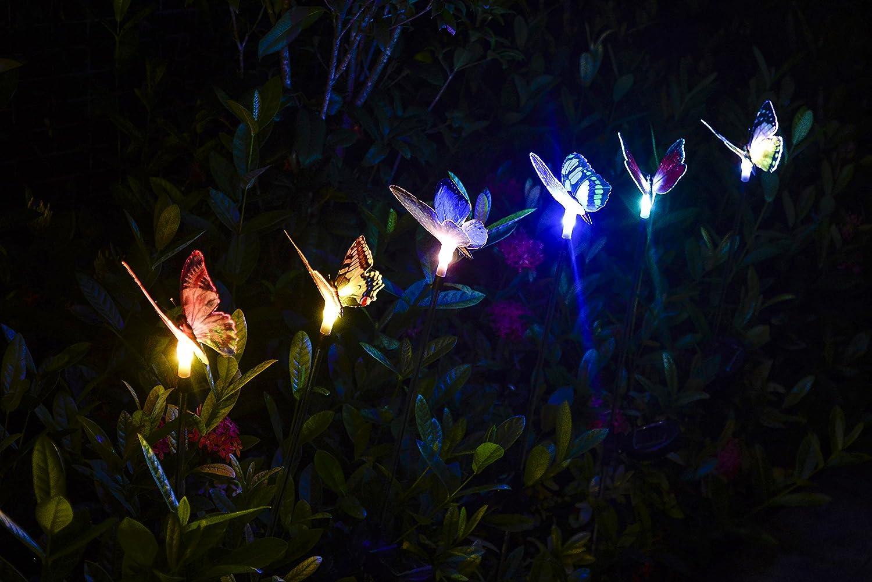 Qualife farfalle decorative lampade solari a led da esterno luce