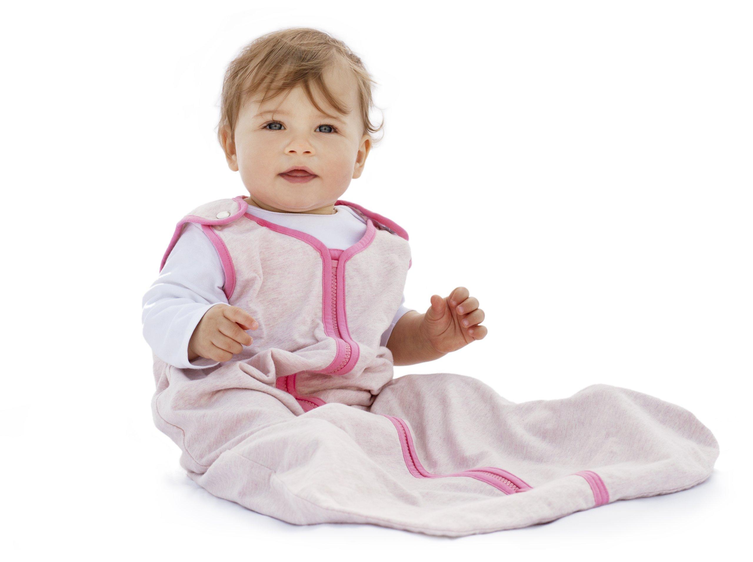 Baby Deedee Sleep Nest Lite Baby Sleeping Bag, Heather Pink, Medium (6-18 Months)