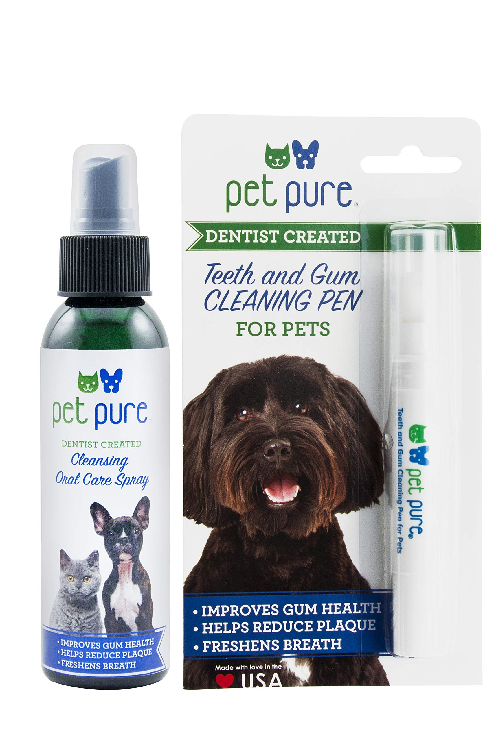 Dr. Brite Pet Pure Teeth Cleaning Pen and Oral Care Spray Combo