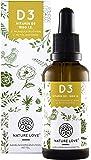 Vielfacher SIEGER 2018*: Vitamin D3 1000 IE - 25µg von Nature Love. Premium: Vegan, aus Flechten (50ml). Vitamin D3 (Cholecalciferol). Flüssig, in Tropfen. Hochdosiert & hergestellt in Deutschland