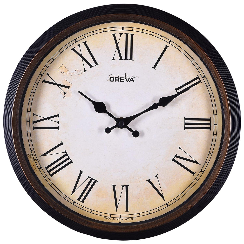Wall clock buy wall clock online at best prices in india amazon ajanta oreva ajanta quartz wooden finished plastic round shape wall clock amipublicfo Choice Image