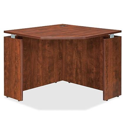 buy popular d79cb cc4e3 Amazon.com: Lorell LLR68695 Executive Desk, Cherry: Home ...