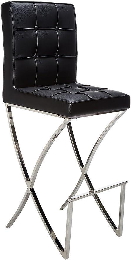 Awe Inspiring Amazon Com Best Selling Markson Leather Bar Stool Black Creativecarmelina Interior Chair Design Creativecarmelinacom