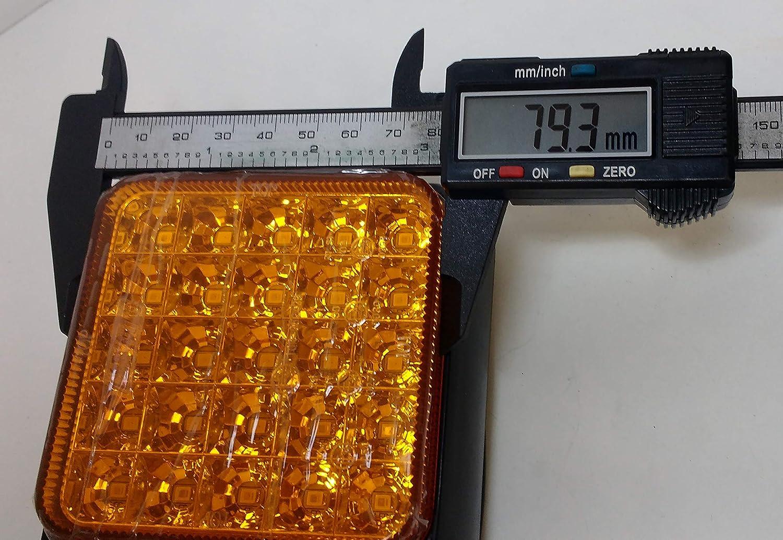 PAIR LED MULTI FUNCTIONAL RECTANGULAR TAIL STOP INDICATOR LAMP MP9637B MAYPOLE