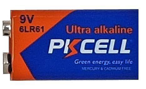 10 x 6LR61 9 V Bloque pilas alcalinas MN1604 (10 Ampolla a 1 batería)
