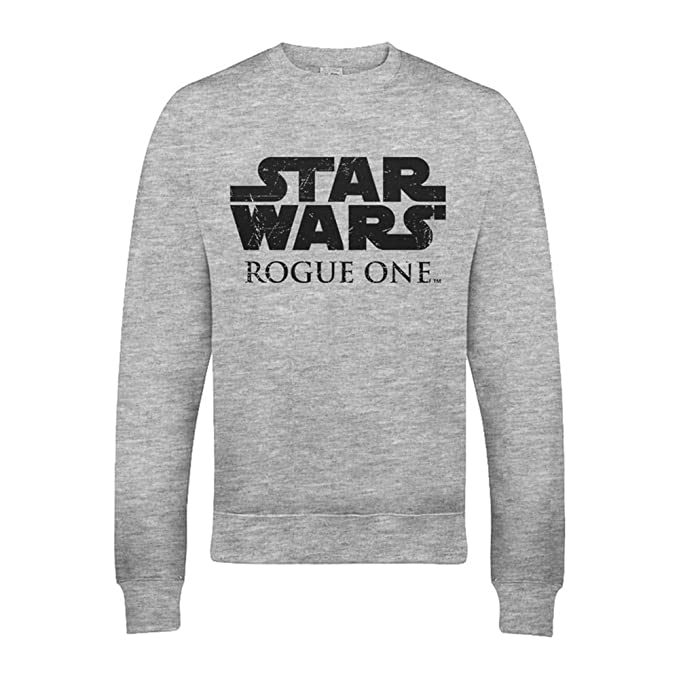 STAR WARS - Sudadera Gris con Logo Oficial de Rogue One: Amazon.es: Ropa y accesorios