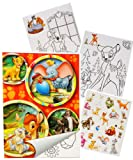 """Sticker & Malblock - """" Disney Tiere / Bambi - König der Löwen - Dschungelbuch - Dumbo """" - Malbuch / Malblock - A5 mit Aufkleber - Puuh Bär Tigger - Ferkel - Malvorlagen Malbücher für Jungen & Mädchen - Sammelalbum - Vorlage Klein Stickerblock - Kinder Kind groß z.B. für Stickeralbum"""