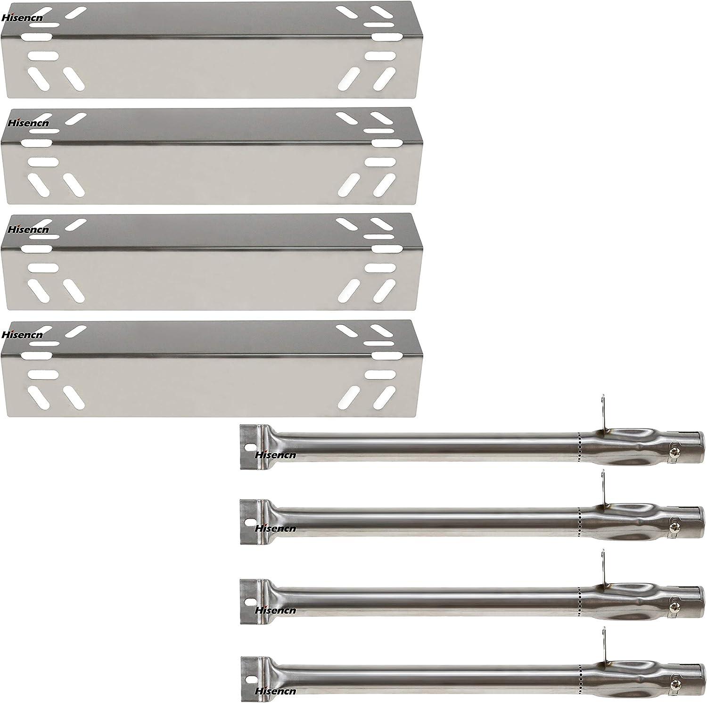 Hisencn Replacement Stainless Steel Burners & Heat Plate Flame Tamer Burner Cover Repair Kit for Kenmore 119.16240, 119.16433010, 119.16434010, 119.16658010 Gas Grill Models