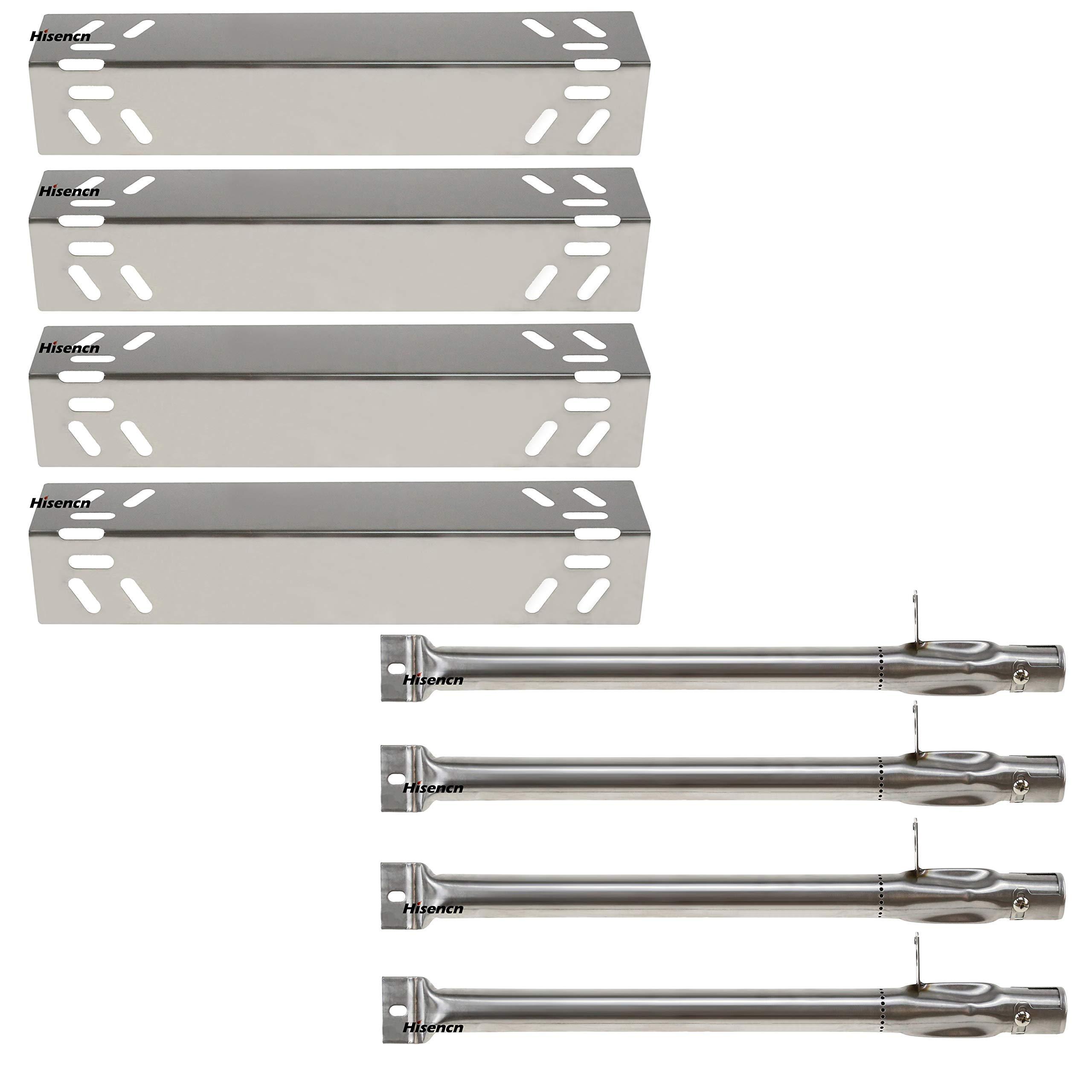 Hisencn Replacement Stainless Steel Burners & Heat Plate Flame Tamer Burner Cover Repair Kit for Kenmore 119.16240, 119.16433010, 119.16434010, 119.16658010 Gas Grill Models by Hisencn