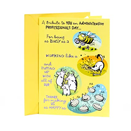 Amazon hallmark administrative professionals day funny hallmark administrative professionals day funny greeting card proud as a peacock m4hsunfo