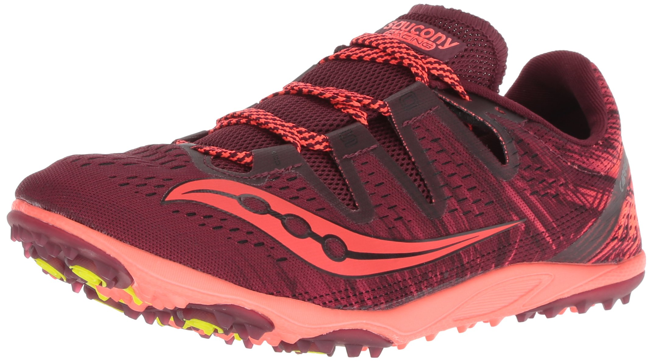 Saucony Women's Carrera XC 3 Flat Track Shoe, Berry/Vizi red, 8 M US by Saucony