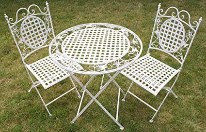 Maribelle - Salon de Jardin - Table à Manger Ronde + Deux ...