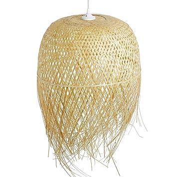 Schlafzimmerlampe Da Nang, Lampe aus Bambus ALS Hängelampe ...