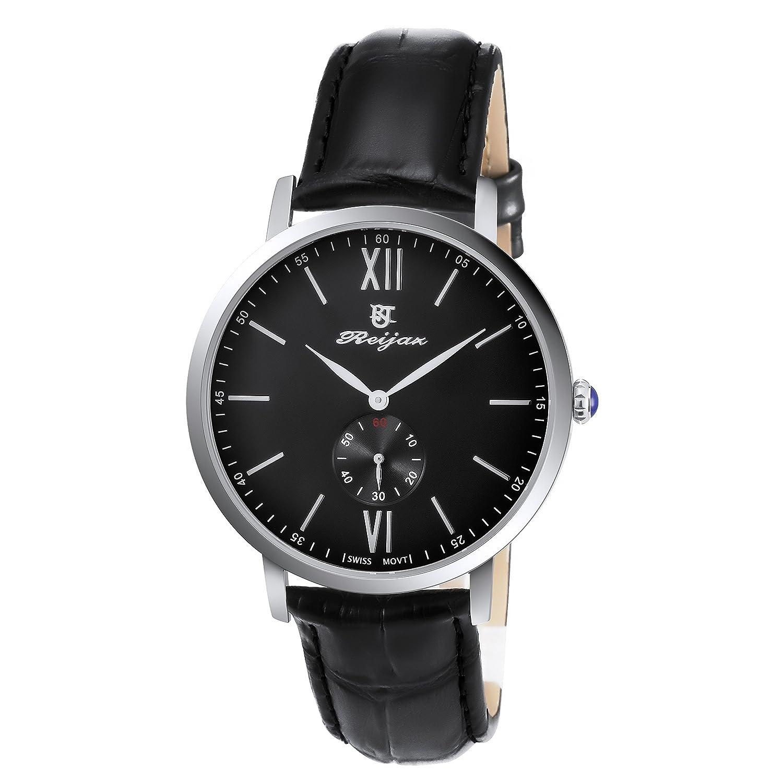 reijaz Men 's Quartz Watches ( swiss-quartz-black ) B0756FLFHP
