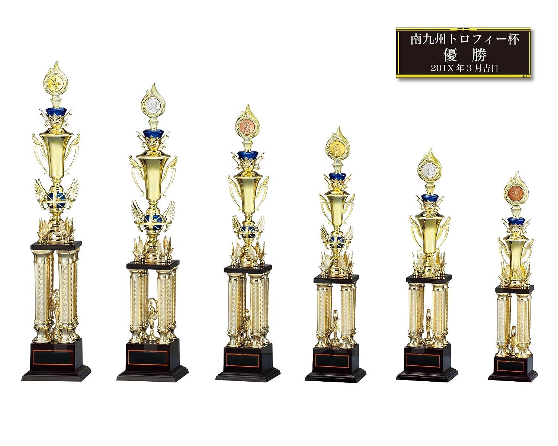 [レーザー彫刻名入れ] GOLD SHACHI 優勝トロフィー TV8902 【卓球】 B01MZBCQEB 金メダル Cサイズ 高さ72cm 重さ840g