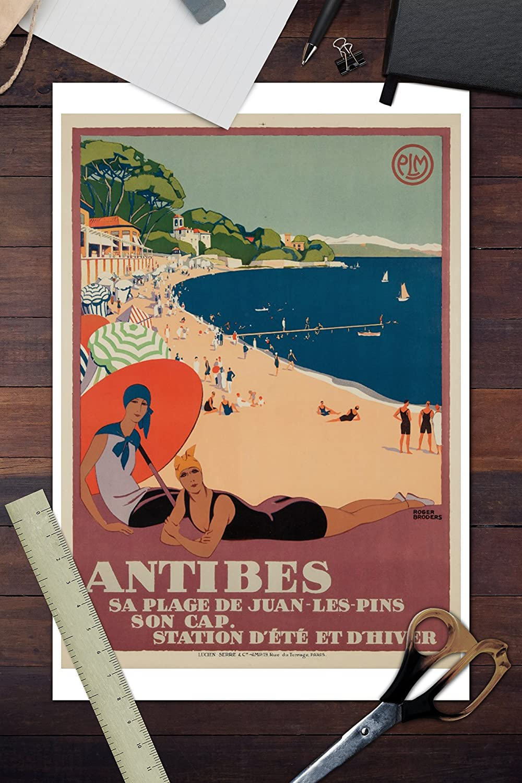 Amazon.com: Antibes Vintage Poster (artist: Roger Broders ...