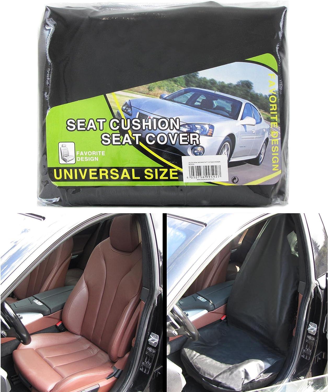 Auto PKW Werkstatt Sitzschoner Bezug Stoff universal schwarz