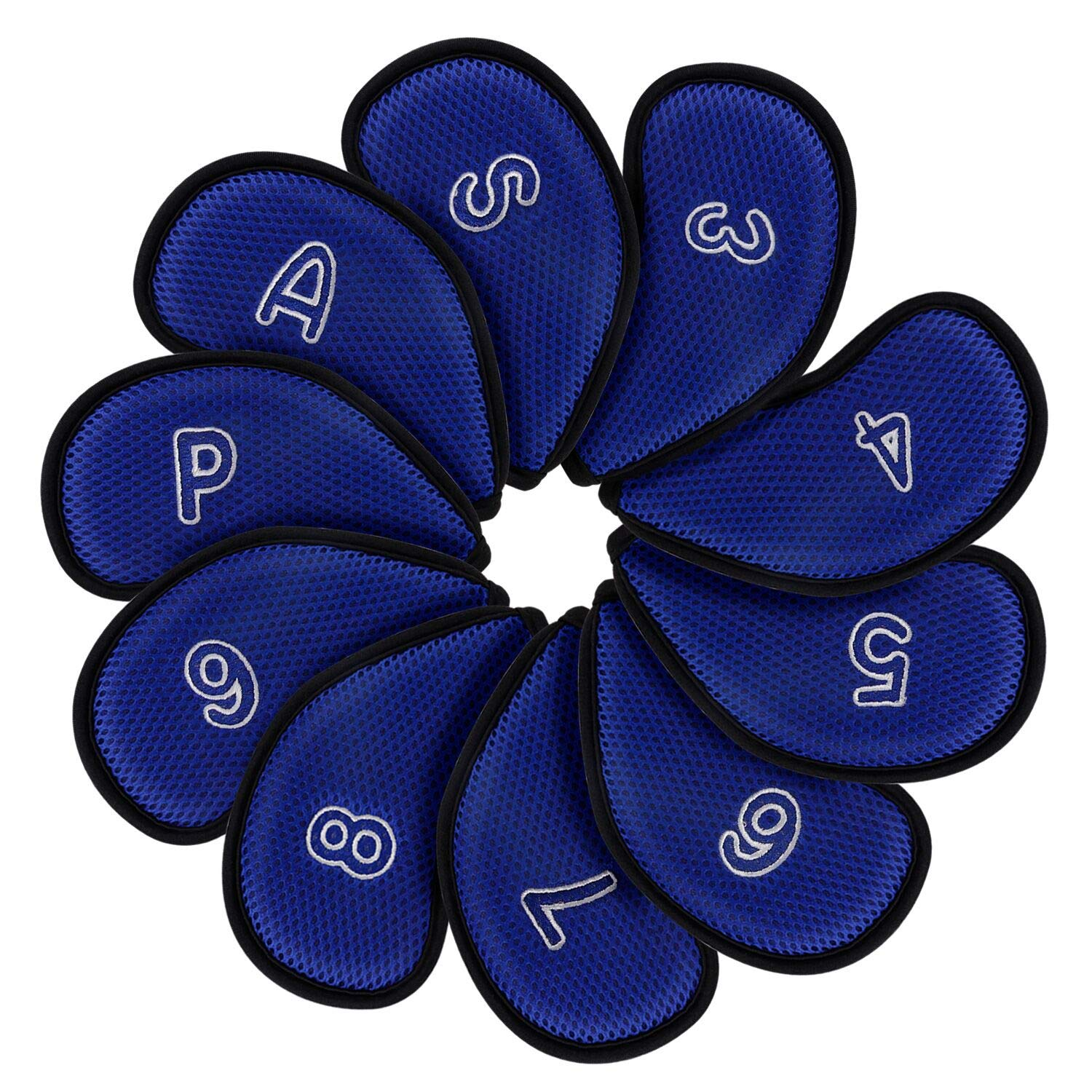 montela golf Blue Meshy Golf Iron Covers Fit Most Irons.