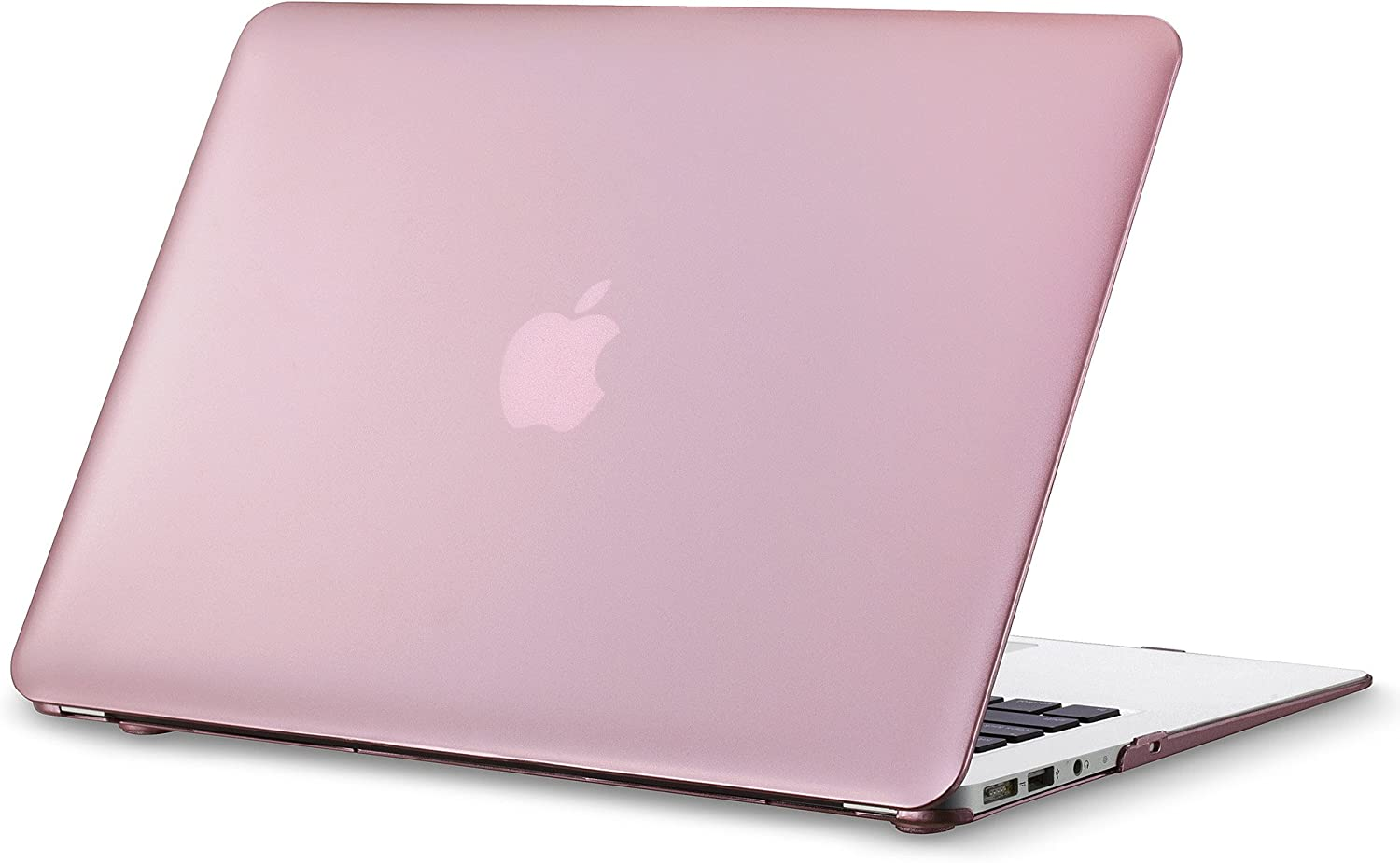 Kuzy - MacBook Air 13 inch Metallic Hard Case for MacBook Air 13.3 inch A1466 & A1369 Older Version Matte Shell Cover - Pink
