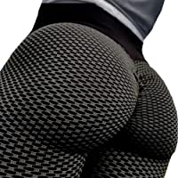RIOJOY Women's Ruched Butt Lifting High Waist Yoga Pants Tummy Control Stretchy Workout Leggings Textured Booty Tights