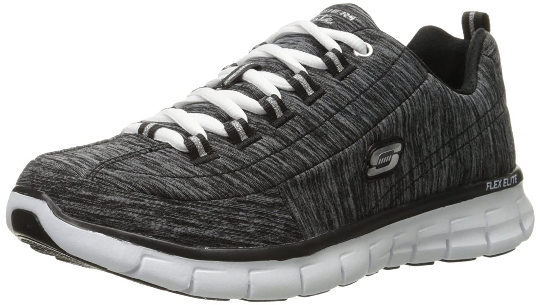 Skechers Sport Women's Elite Synergy Fashion Sneaker B017N4VW9I 7 B(M) US|Heather Black