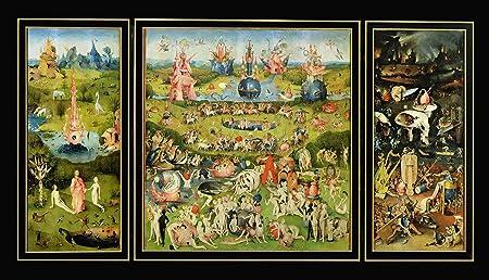 El jardín de las delicias impresión del arte de la pared foto de alta Hieronymus Bosch, papel, 131 x 69 cm: Amazon.es: Hogar