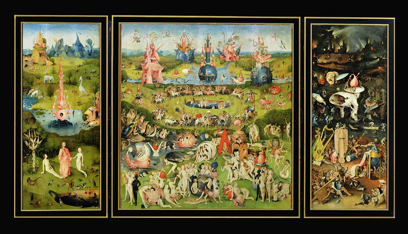 Garden of Earthly Delights Prints by Hieronymus Bosch High Quality Wall Art  Picture (131 x 69 cm)