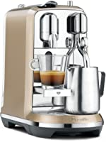 Breville Nespresso Creatista Single Serve Espresso Machine with Milk Auto Steam Wand, Champagne
