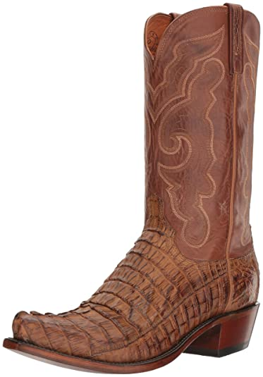 Lucchese Bootmaker Men's Franklin Western Boot, Tan Burnished/Tan, ...