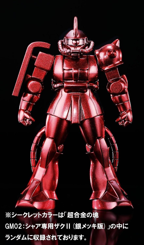 Tamashii Nations Bandai Gm-02 Bandai Absolute Chogokin Small Metal Statue Zaku II Chars Custom Model Mobile Suit Gundam