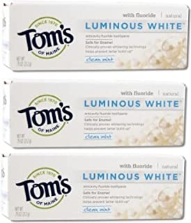 product image for Tom's of Maine Natural Luminous White Fluoride Travel Size Toothpaste (3 Tubes)