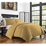 Zen Bamboo Ultra Soft 3-Piece Bamboo Derived Rayon Duvet Cover Set -Hypoallergenic and Wrinkle Resistant - King/Cal King - Gold