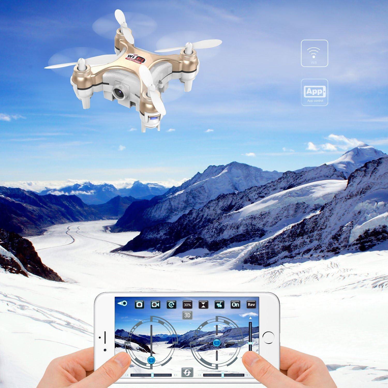 Goolsky Cheerson CX-10WD-TX 2.4GHz 4 Canaux 6 Axes Wifi FPV Eversion 3D Mini Drone avec 0.3MP Cam/éra