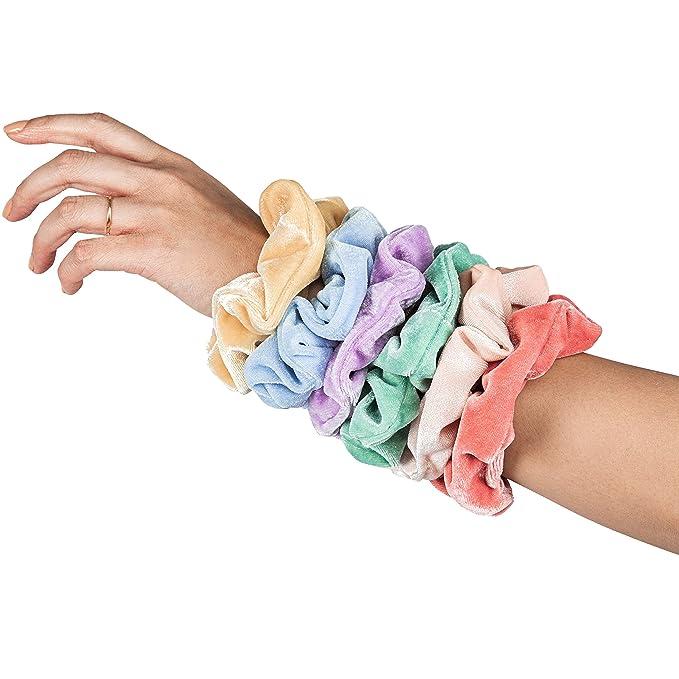 Pastel Velvet Hair Scrunchies Pack 20 Colors Premium Elastic Bobbles Hair Vsco