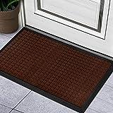 BCLBUSTE Door Mat Entryway Rug,Heavy-Duty Non-Slip Front Door Mat,Low-Profile Dirt-Absorbing Outdoor Doormats,Easy Clean and