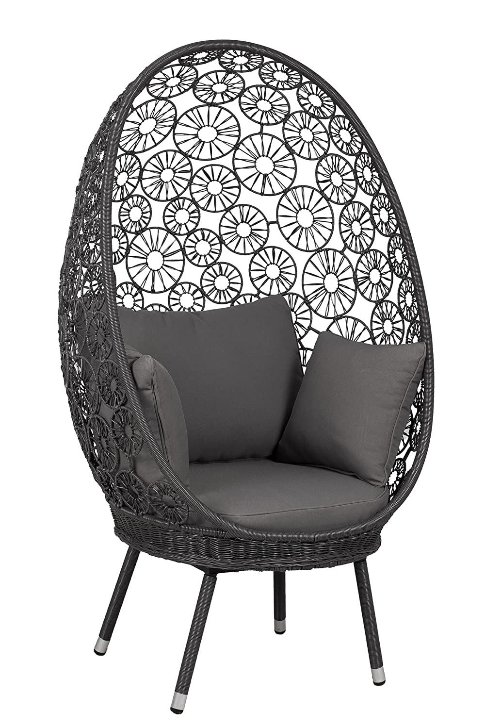 ei sessel geflecht outliv arona korbsessel polyrattan schwarz grau stuhl garten online bestellen. Black Bedroom Furniture Sets. Home Design Ideas