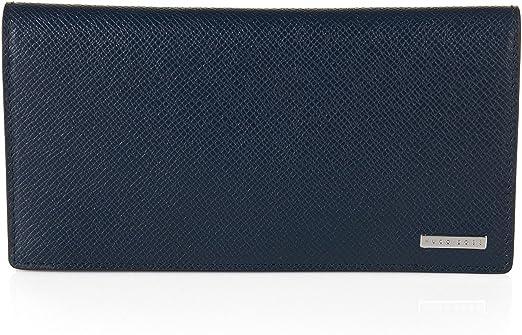 Cartera Hugo Boss de piel azul Signature Contin 50311742 401: Amazon.es: Ropa y accesorios