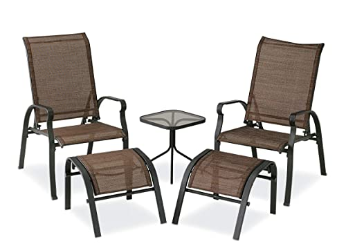 Courtyard Creations KTS7377 Four Seasons Verona 5 Piece Brown Sling Outdoor Set